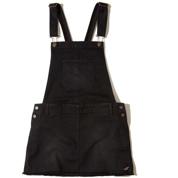817e39145c7 Hollister Denim Overall Skirt ( 50) ❤ liked on Polyvore featuring skirts