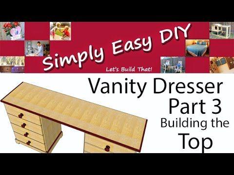 DIY: Vanity Dresser Part 3 - Shaping the Top