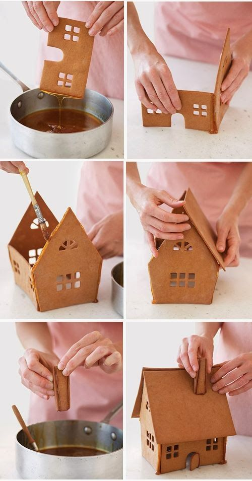 How to make a Christmas gingerbread house - Step by Step tutorial ...