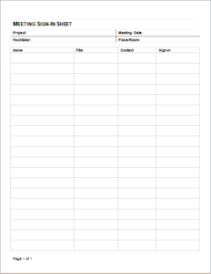 meeting sign in sheet download at http www templateinn com office