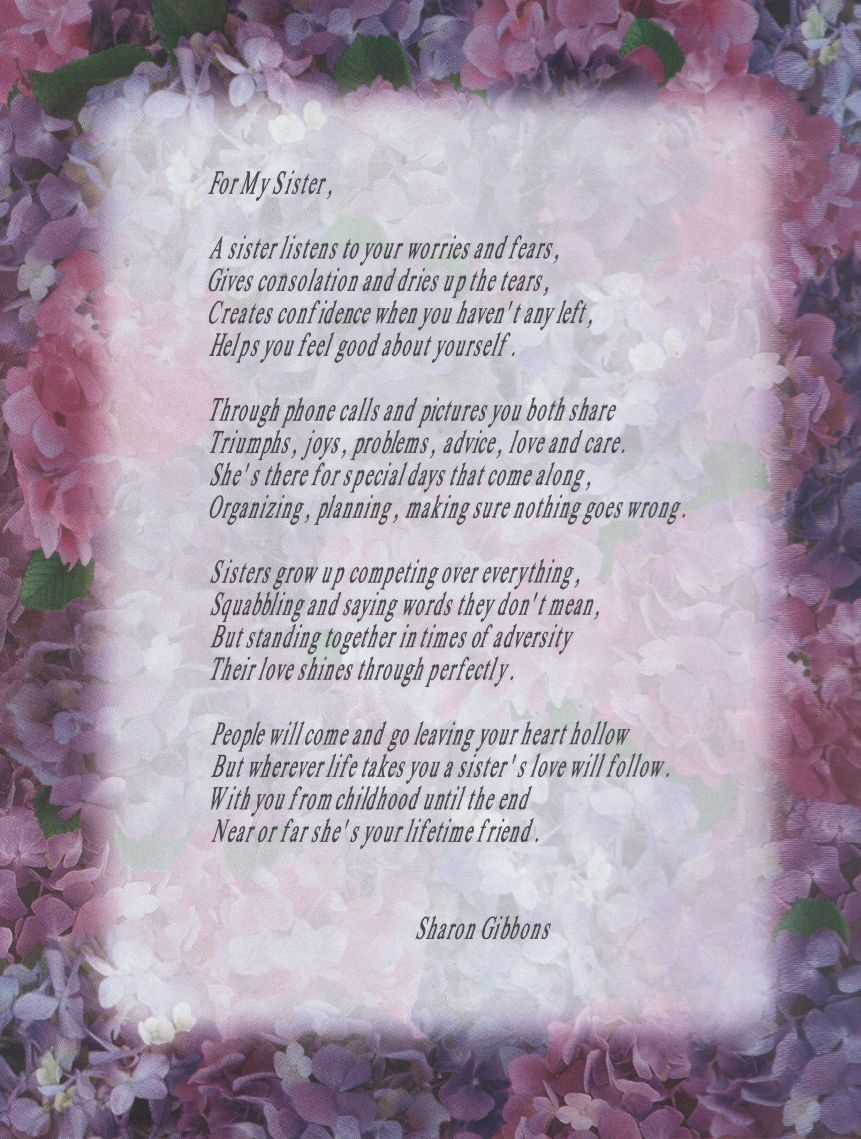 Brother From Sister Poems Dad Poem Sister Poem Inspiring Ideas