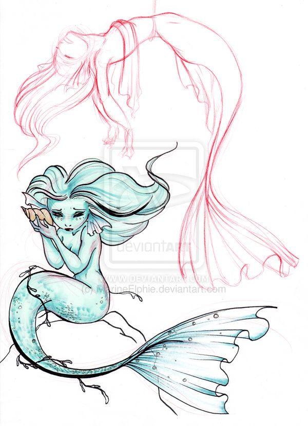 Sea Girls By Marineelphie On Deviantart With Images Mermaid