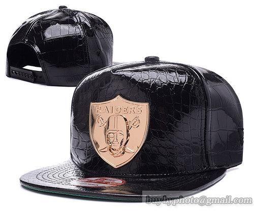 5b89ebbe Oakland Raiders Snapback Hats All Black Leather Golden | Oakland ...