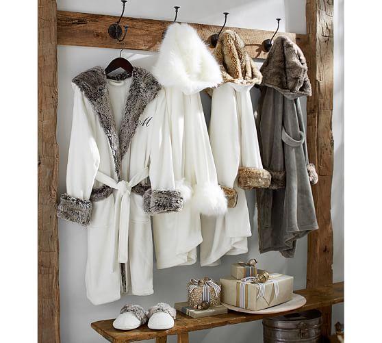 2f0ac1eb87 Cozy Fur Robe - Ivory Caramel Ombre