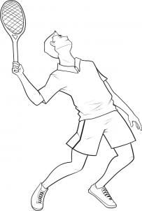 How To Draw A Tennis Player Step By Step Sports Pop Culture Free Online Drawing Tutorial Added By Dawn Tennis Drawing Tennis Players Sports Coloring Pages