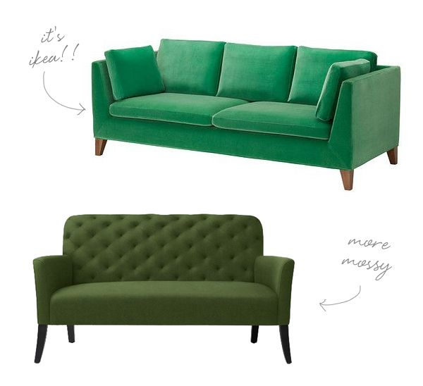 GO FOR THE GREEN... SOFA.   Coco+kelley