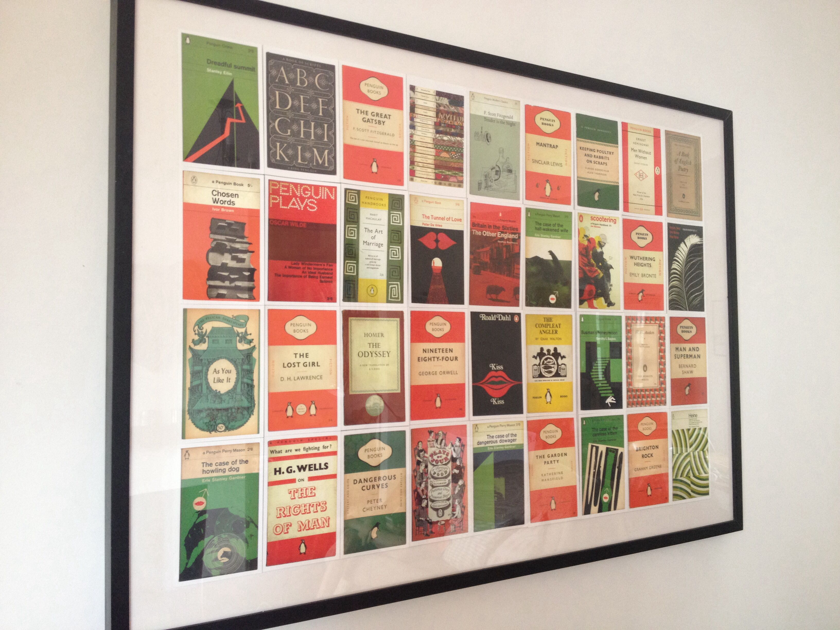 Penguin Book Cover Framed : A selection of penguin book cover postcards framed and