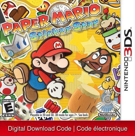 Nintendo 3ds Paper Mario Sticker Star Digital Download