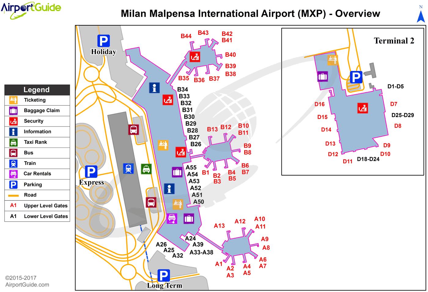 Milan Malpensa International Mxp Airport Terminal Map