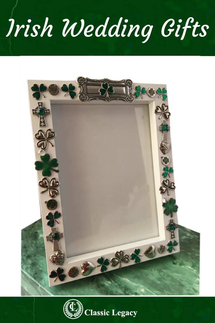 This Frame Is The Perfect Irish Wedding Gift The Frame Comes With All The Irish Shamrock Charms Medallions A Irish Wedding Gifts Irish Wedding Irish Gifts