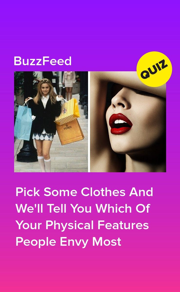 Pick Some Clothes And We'll Tell You Which Of Your Physical