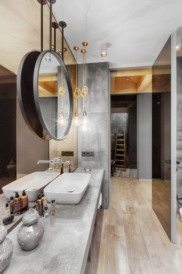 Buddha House by Yunakov Design - MyHouseIdea #Bathroom / #Salle de - lavabo retro salle de bain