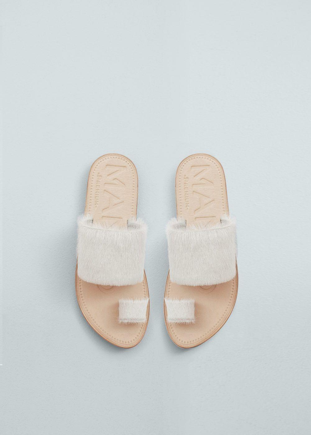 02445eebcd1 Sandalia piel pelo - Zapatos de Mujer