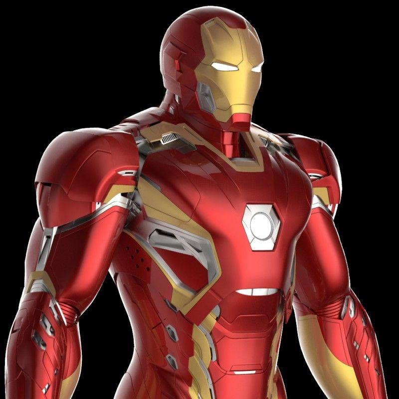 3D Printable Suit Iron Man Mark XLV Armor Model MK 45