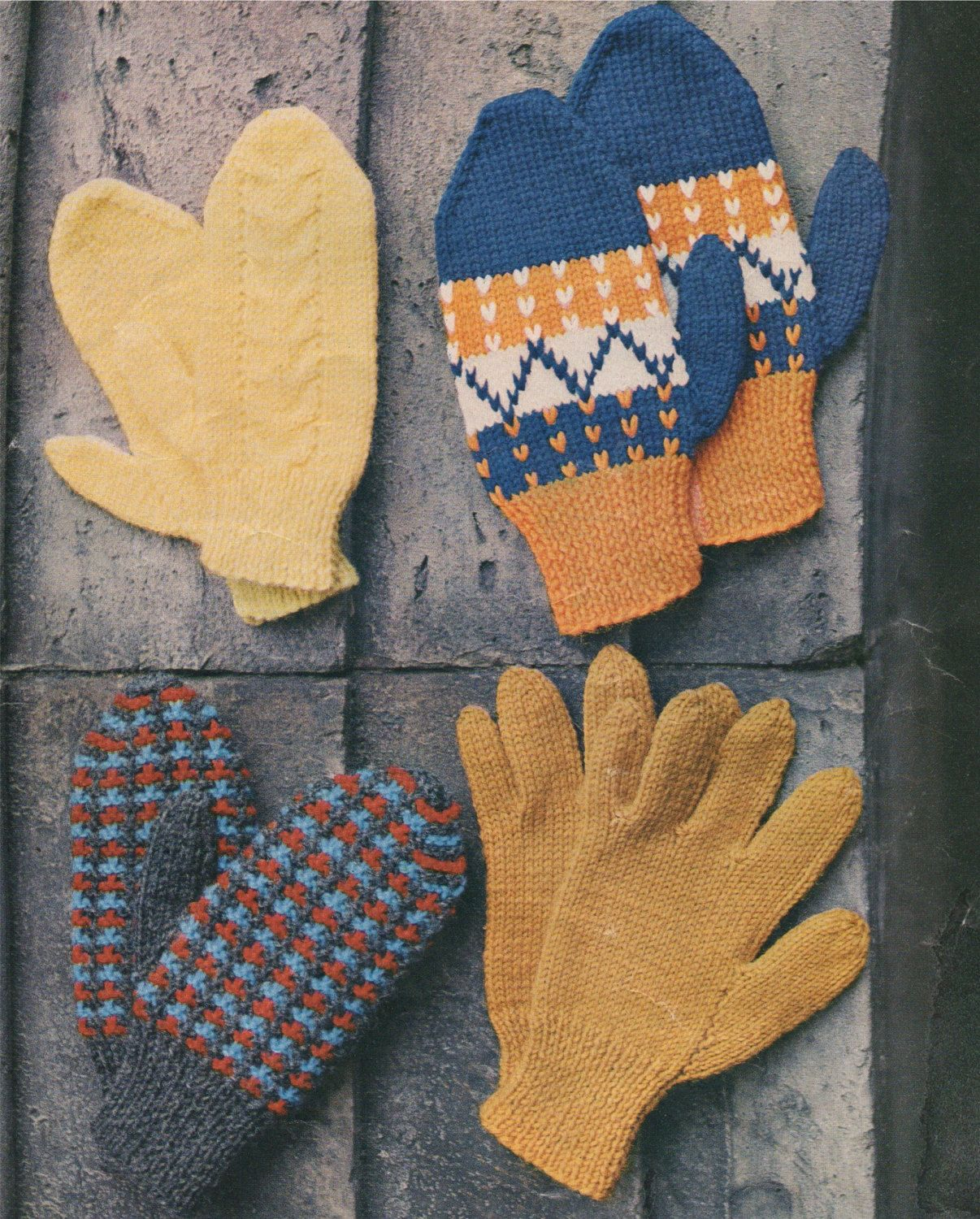 Childrens Gloves and Mittens PDF Knitting Pattern : Boys or Girls ...