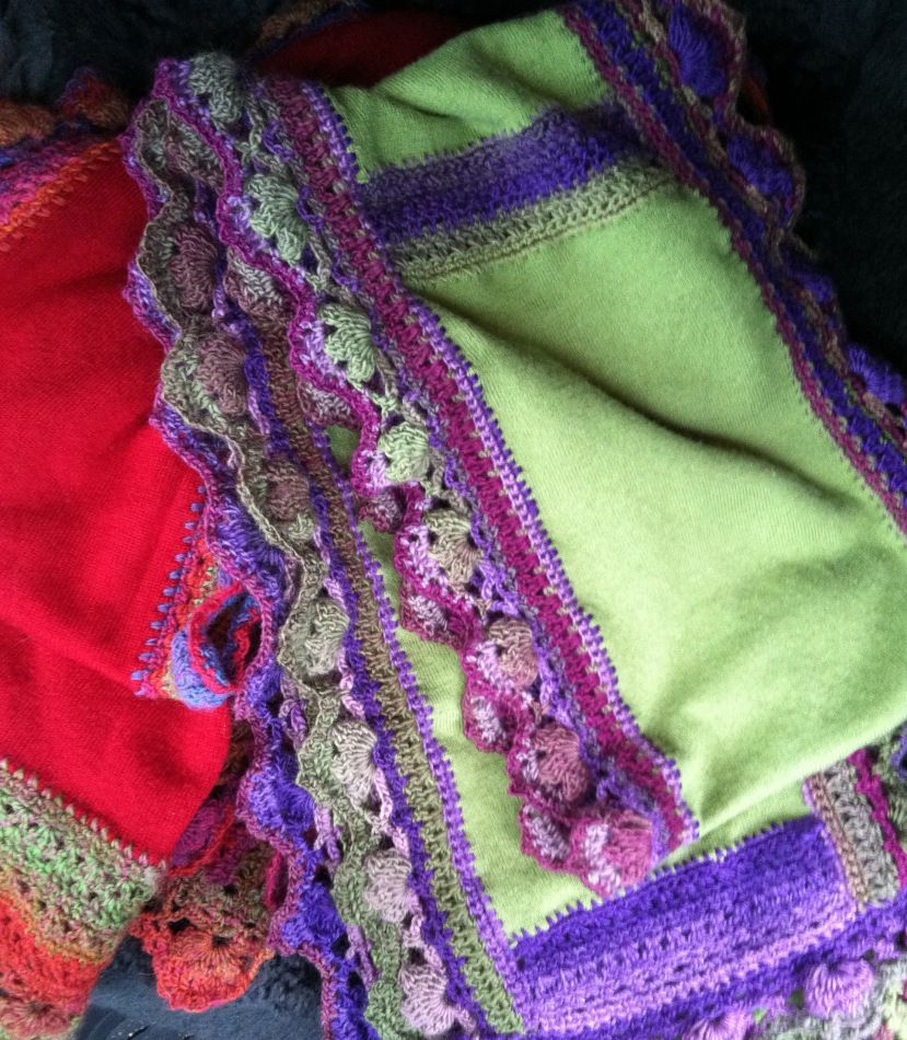Suzanne Creates Upcycled Sweater Scarves