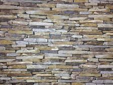 Absolutely Stunning Realistic Dry Stone Wall Brick Effect Feature Wall Wallpaper