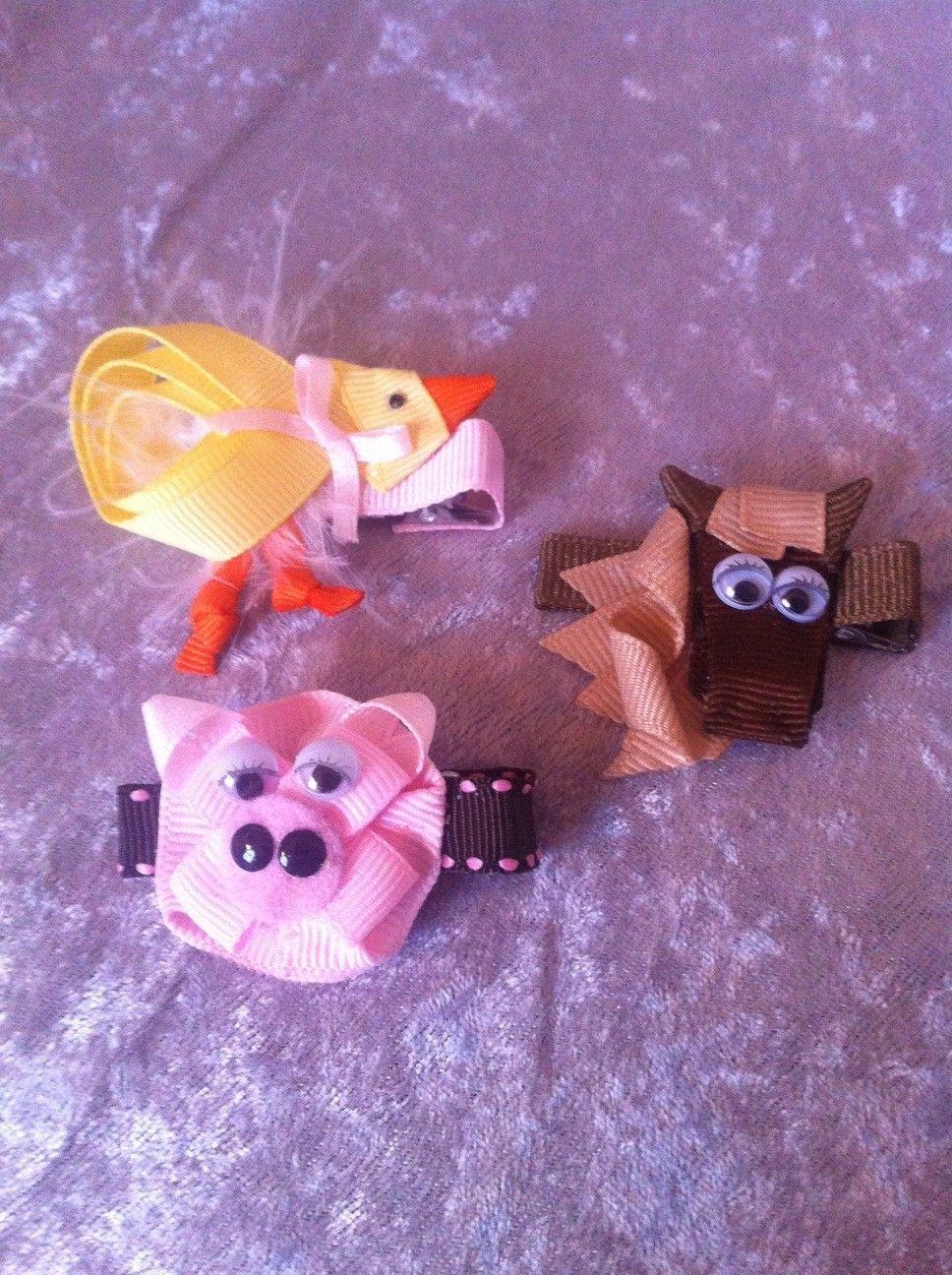 Farm Animals Chicken Horse Pig Ribbon