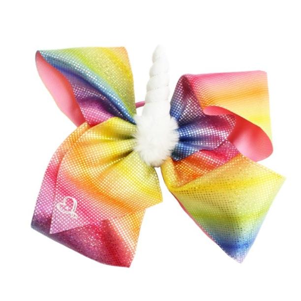 Jojo Siwa Jojo Siwa Hair Bow Rainbow Shimmer With White Unicorn Horn Walmart Com In 2021 Jojo Siwa Hair Jojo Bows Jojo Siwa Bows