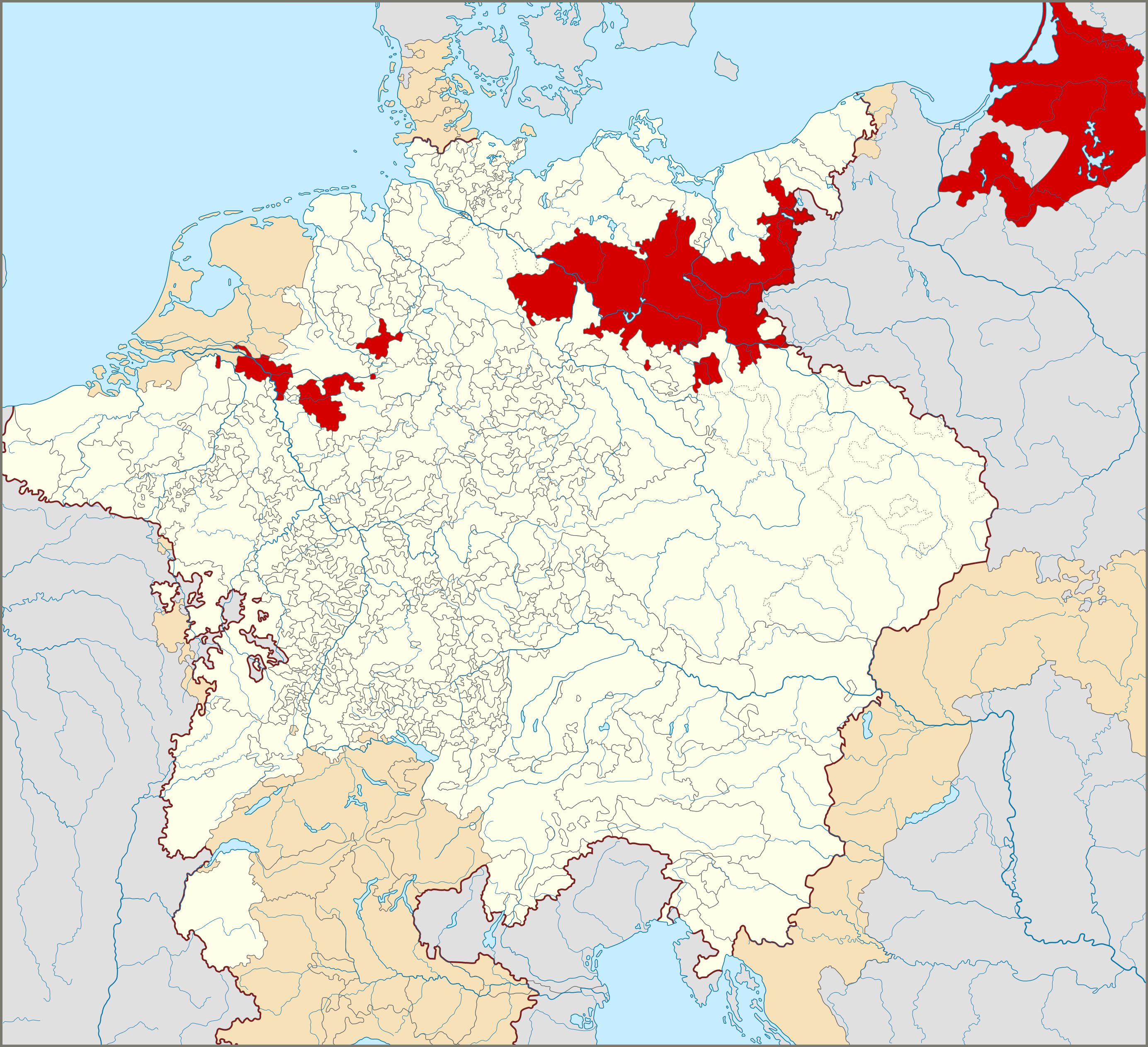 BrandenburgPrussia within the Holy Roman Empire 1618 MAPS
