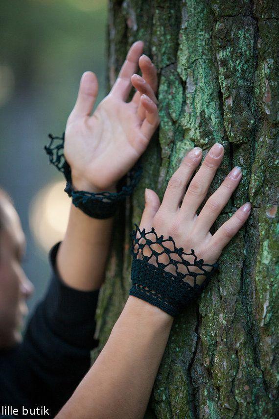 Crochet Lace Cuffs Handmade Elegant Feminine with by LilleButik ...