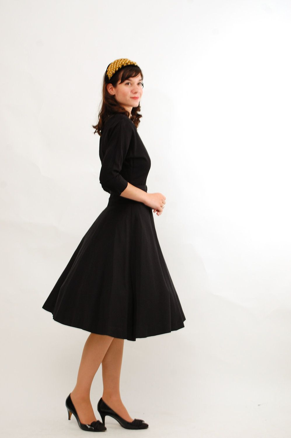 RESERVED - Vintage 1940s Party Dress - 40s Cocktail Dress - Classic ...