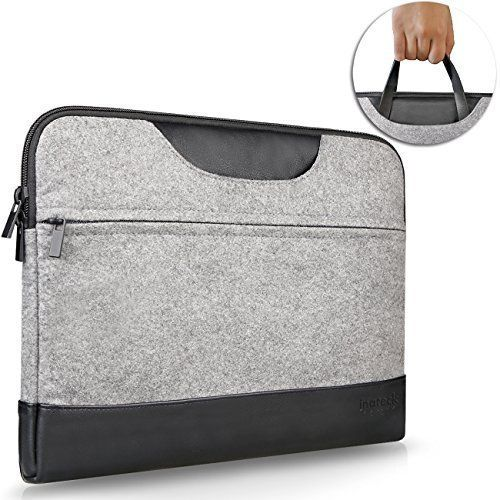Amazon.com: Inateck 13-13.3 Inch MacBook Air / MacBook Pro / Pro Retina Sleeve Case Bag Cover Laptop Notebook Ultrabook Bag with Leather Handle, Gray: Computers & Accessories