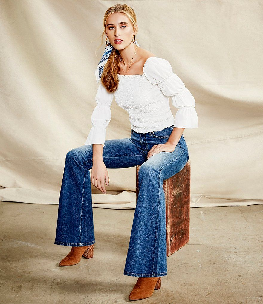 a3a2a9f48c36 Ella Moss Naomi High Rise Flare-Leg Jeans#Naomi, #High, #Ella ...
