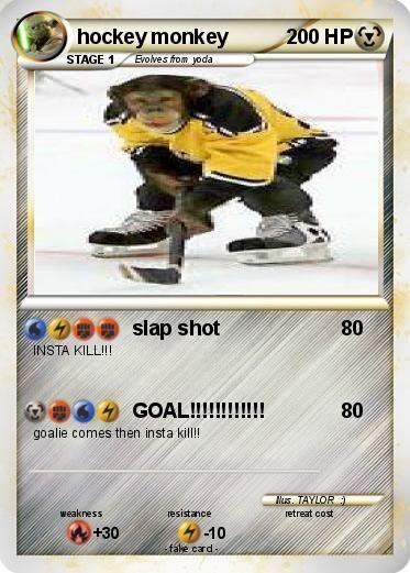 Hockey Monkey Google Search Hockey Slap Shot Pokemon