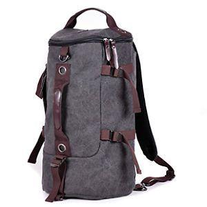 Men/'s Vintage Canvas Backpack Rucksack Laptop Shoulder Travel Hiking Camping Bag
