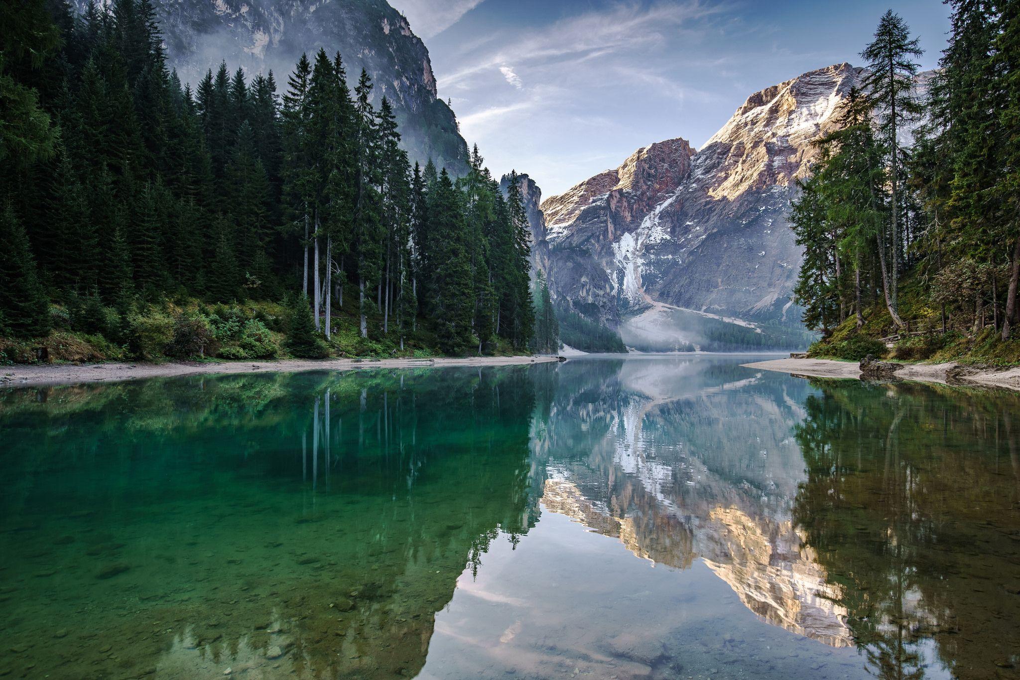 Mountain Lake Lake landscape, Landscape wallpaper, Sky