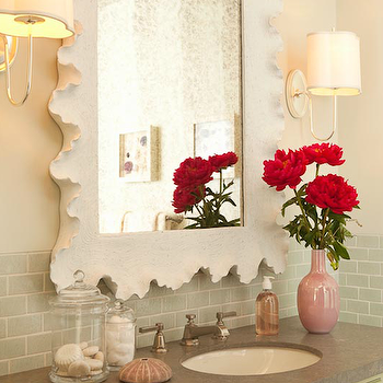 Bamboo Bathroom Vanity - What a lovely mirror this is with ...