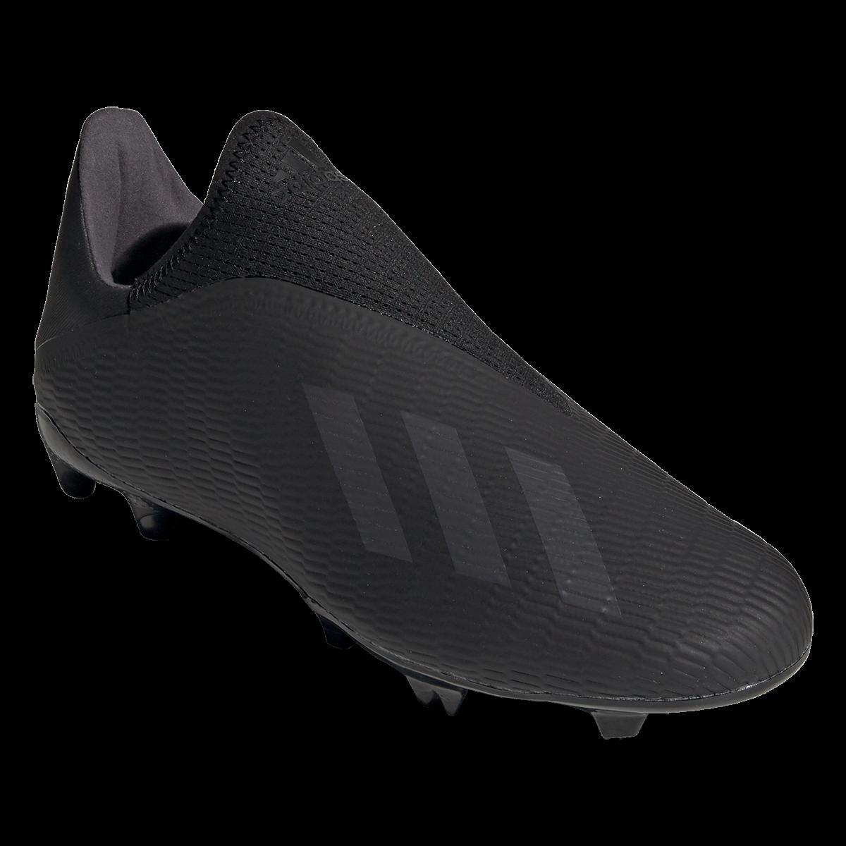 Adidas X 19 3 Laceless Fg Soccer Cleat Black Black Silver 9 In 2020 Cleats Soccer Cleats Adidas Soccer Boots