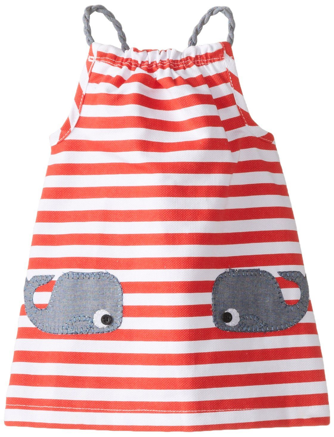 2807b9e1 Mud Pie Baby-Girls Newborn Whale Dress, Red, 0-6 Months. This nautical dress  is made of woven pique, chambray and crochet. Makes a great shower gift for  the ...