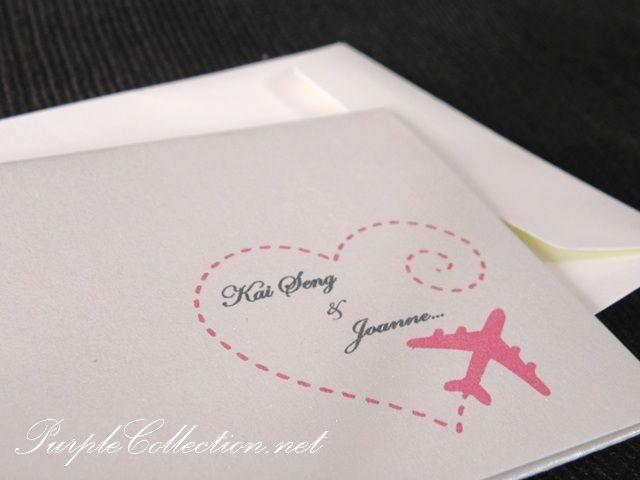 Long Distance Relationship Wedding Invitation: Boarding Pass Travel Wedding Invitation Card