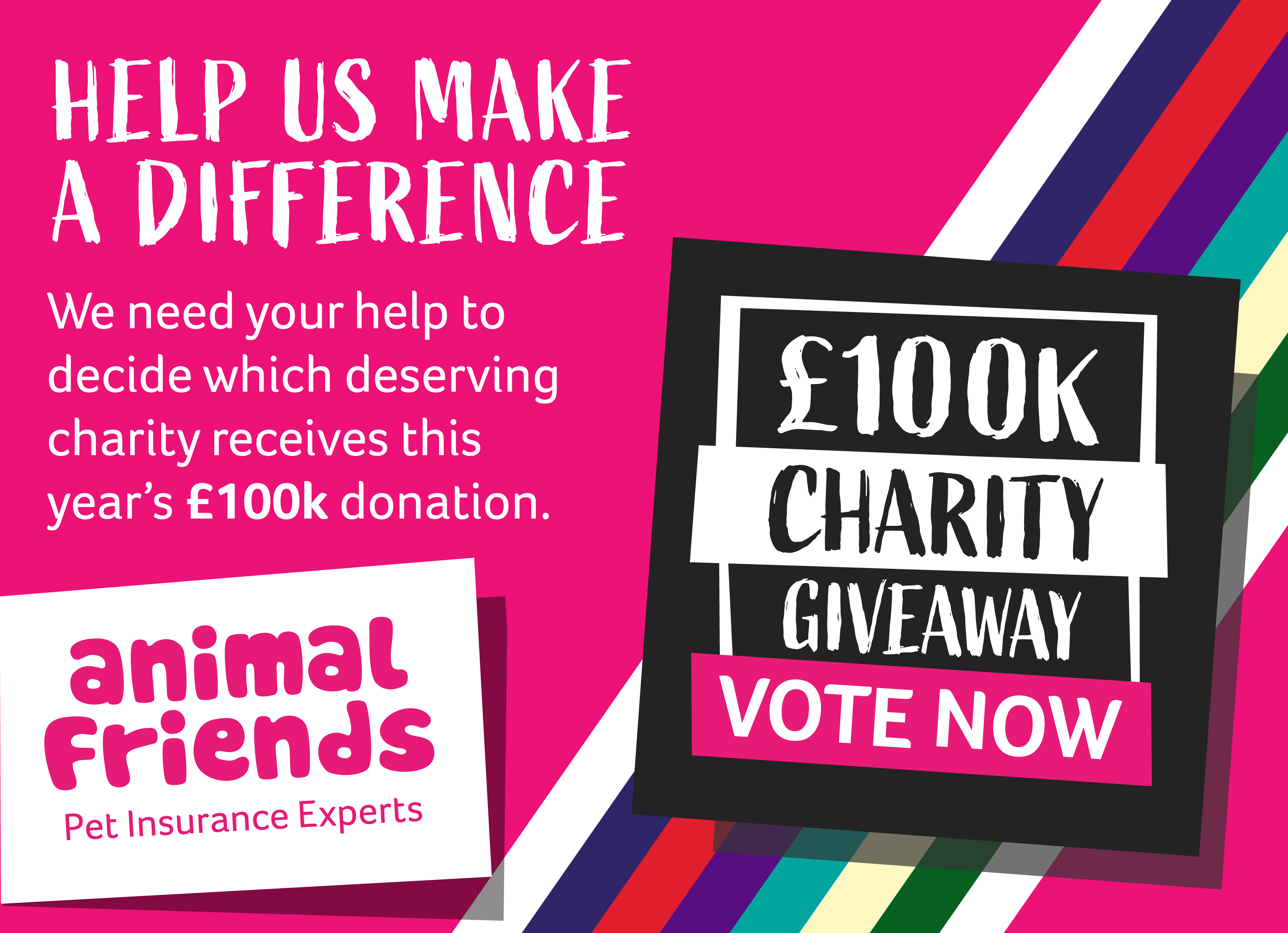 Animal Friends 100k Charity Giveaway Animals Friends Charity Healthy Pets