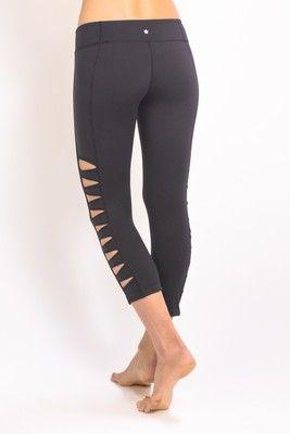 Designer Yoga Clothes for Women. The Warrior Tough Cut Yoga Legging ... f5caed2dd8f4