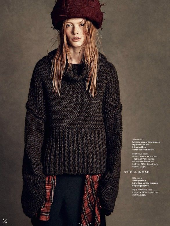 10 Grunge-Inspired Fall Looks From Elle Sweden via @WhoWhatWear
