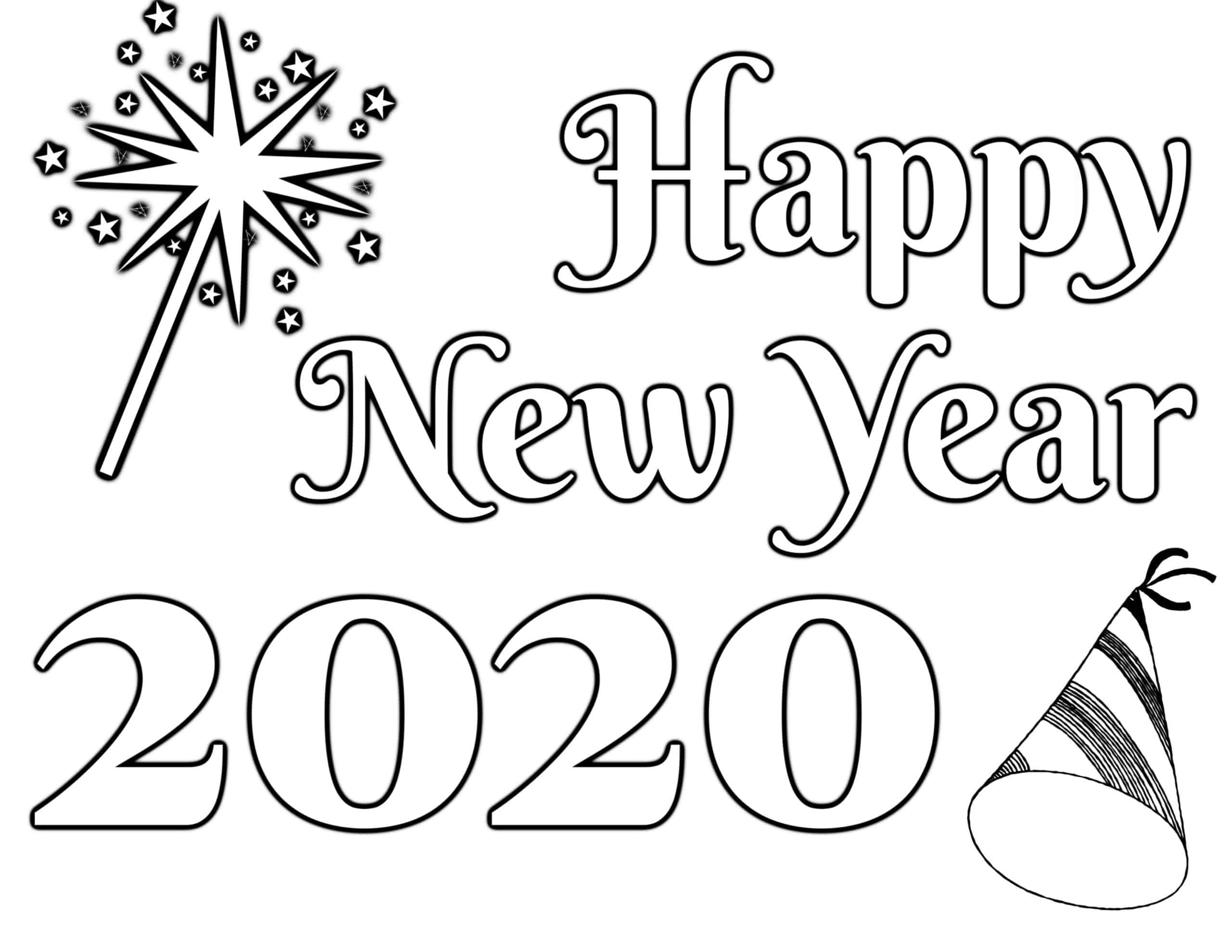 Awesome New Year S Eve Coloring Pages Free Printable In 2021 New Year Coloring Pages Coloring Pages New Year Printables