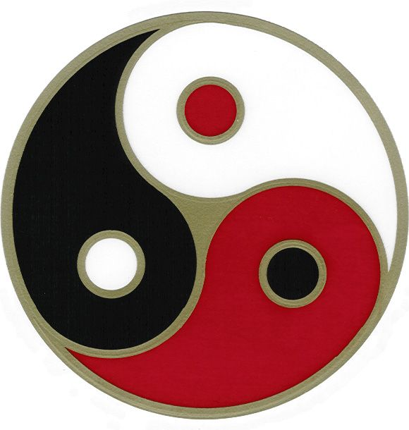 Yingyang World Triad Symbol Maybe Different Color Meaning Combo