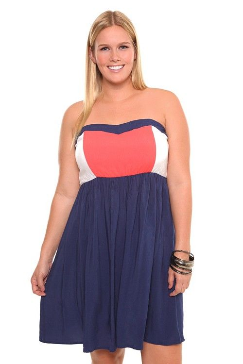 d5e1b707f9 Coral White Navy Color Block Tube Dress  48.50 - Got this dress and I was  surprised by the quality