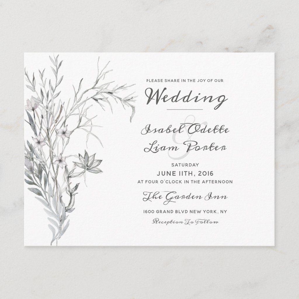 Whispering Wildflowers Vintage Wedding Invitation Zazzle Com In 2020 Vintage Wedding Invitations Floral Wedding Invitation Card Wedding Invitations