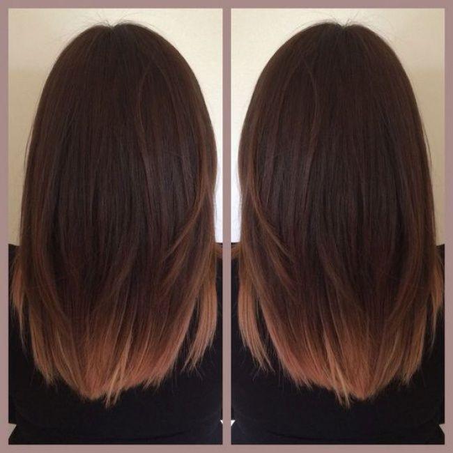 Ombré hair sur base brune  la couleur qui cartonne en 2016 , 54 photos ,  Tendance coiffure