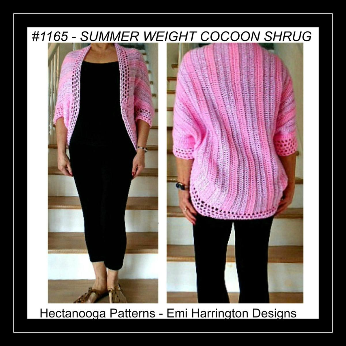 1165 - SUMMER WEIGHT COCOON SHRUG, small to plus
