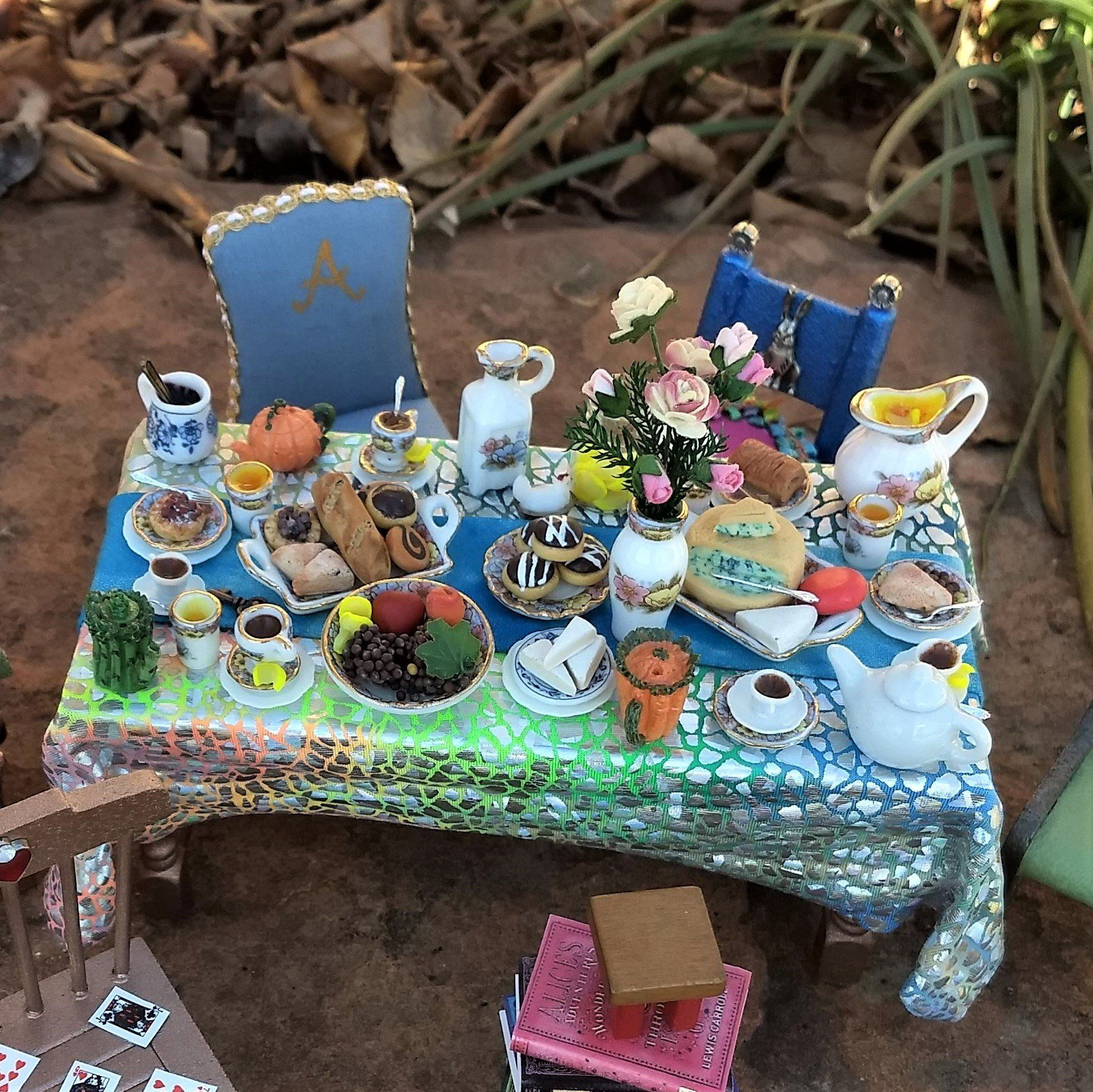 Miniature Mad Hatter S Tea Party Table 1 12 Scale Dollhouse