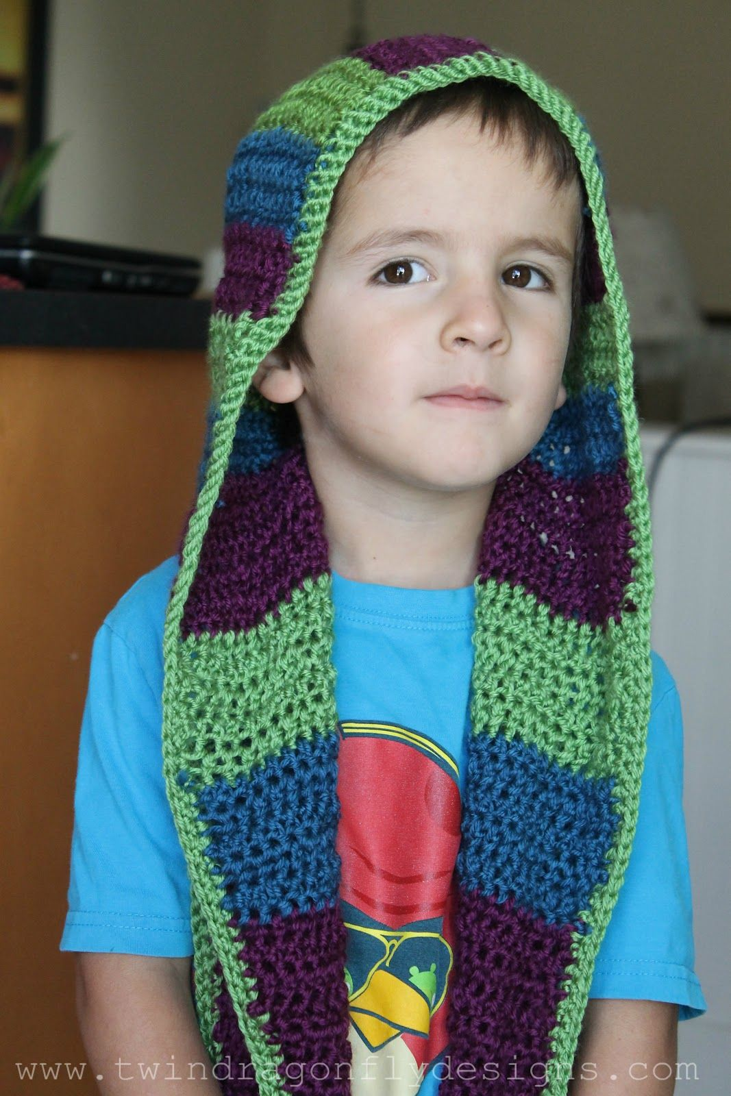 Crochet Hooded Scarf Pattern Interesting Inspiration Ideas