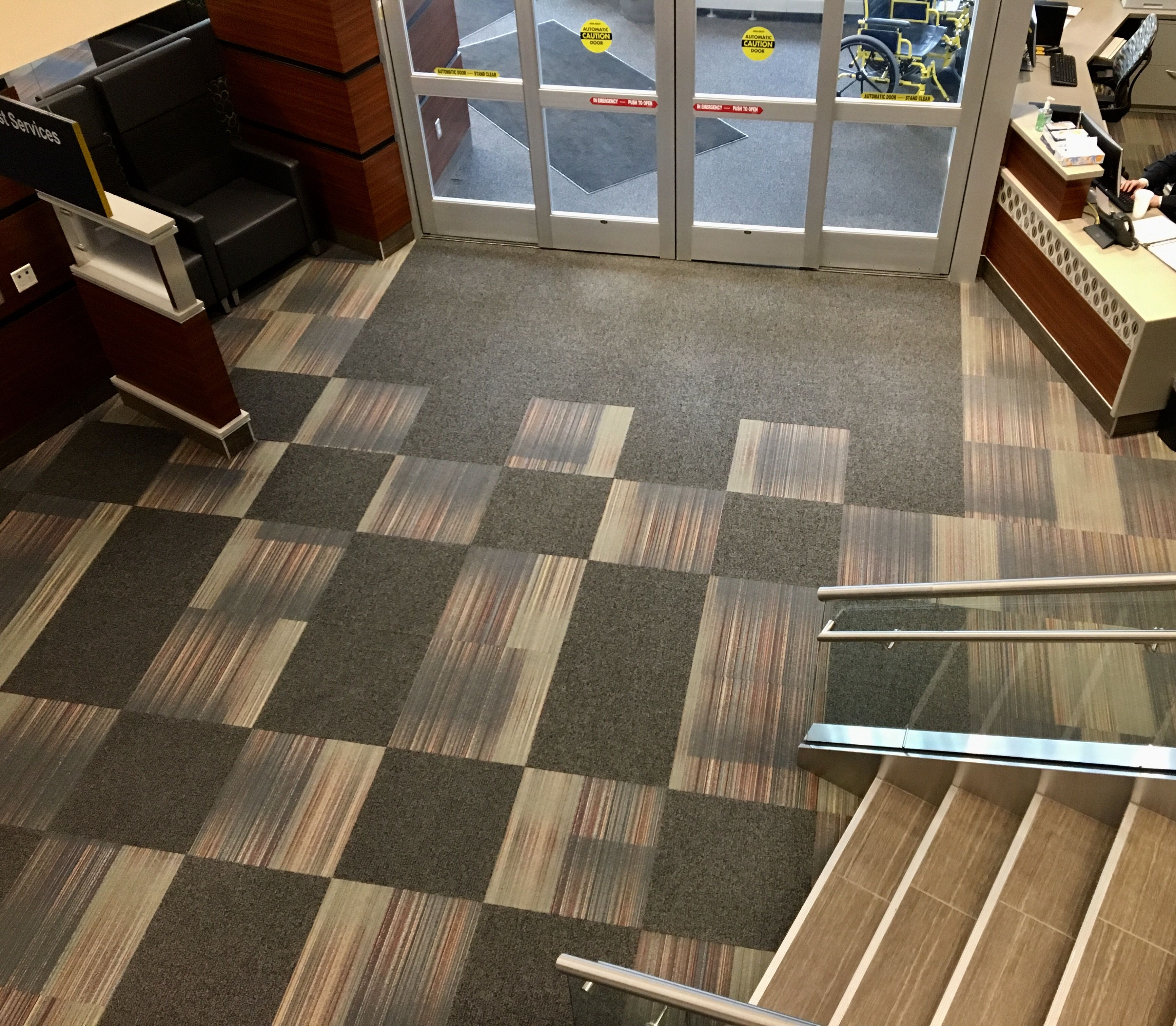Access Walk Off Tiles 24 X 24 With Intermix 24 X 24 Carpet