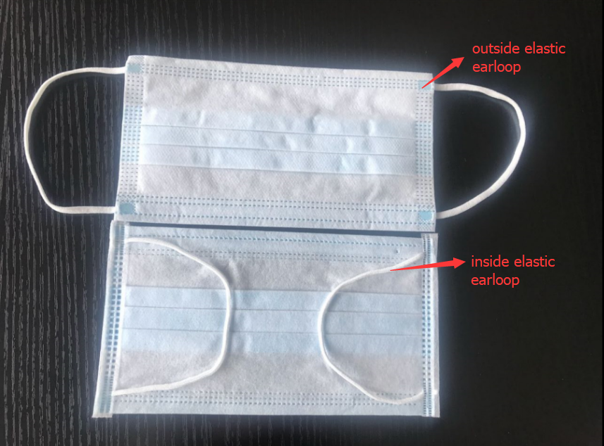 Disposable On Printing Pin Face Mask