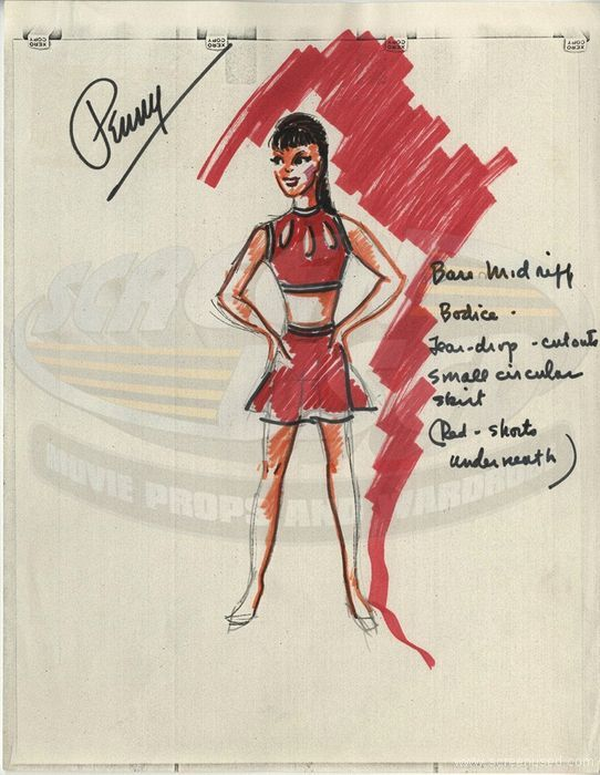 A Costume Design For Angela Cartwright Who Played Penny Robinson In Lost In Space Signed By Paul Zastupnevich Lost In Space Robinson Vintage Tv