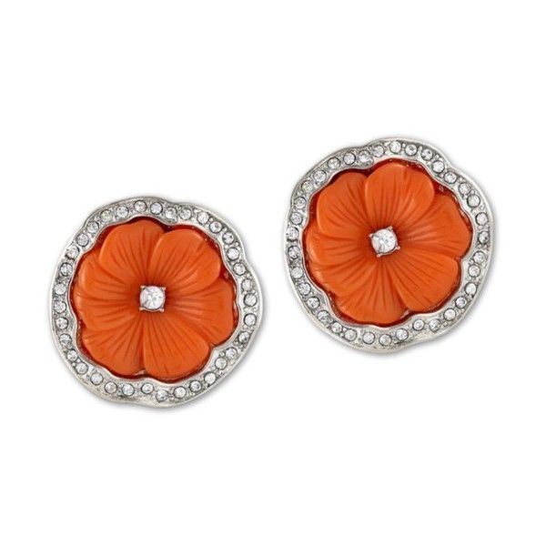 Kenneth Jay Lane Coral Flower Clip Earring Coral DFgmdbgd